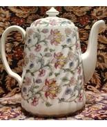 Minton HADDON HALL Coffee pot Floral Chintz green trim - $121.51