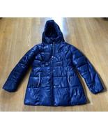 Girls Michael Kors Puffer Coat Navy Blue Size 14 - $33.87