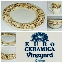 "Vintage ""EURO CERAMICA VINEYARD"" Dinnerware Collection - $8.90+"