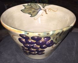 Tabletops Unlimited Gallery NAPA Hand Painted Ceramic SALAD FRUIT PASTA BOWL image 3