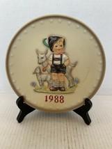 "MJ Hummel Goebel Annual Plate ""Little Goat Herder"" Hum 284 in Bas Relief 1988 - $15.00"