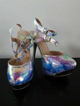 Scene By Shoe Dazzle Heels Iridescent Pumps Stilletto Heel Size 8 Party ... - $24.61
