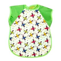 Summer Cotton Waterproof Short Sleeved Bib Baby Feeding Smock PLANES, 3-5 Years