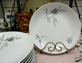 """Continental China Jet Rose By Raymond Loewy 8 3/4"""" Coupe Soup Bowls Set ... - $111.82"""