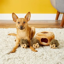 Burrow Squeaky Hide and Seek Plush Dog Toy, Hedgehog Den, Puzzle Set - $14.85