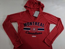 LZ CCM Women's S Montreal Canadiens NHL Long Sl Hooded T-Shirt Tee Shirt... - $18.52