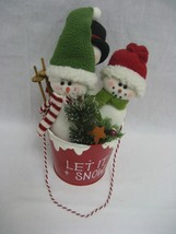 Set of Three (3) Cute Christmas Snowmen in Red ... - $9.85