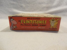 Flintstones 1961 Ed-U-Cards Travl-Tray Pre-Historic Animal Rummy Game Co... - $14.95
