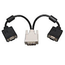 Tripp Lite P120-001-2 DVI to 2 x VGA Splitter Cable - Black - $25.32