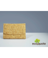 EcoQuote Eco Friend Tri Fold Envelope Compact Wallet Handmade Cork Material - $31.00