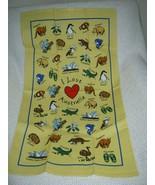 I Love Australia Cotton Tea Towel Original Australian Design - $11.70