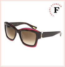 LANVIN 678 Havana Violet Pearl Brown Oversized Gradient Sunglasses SLN678S image 4