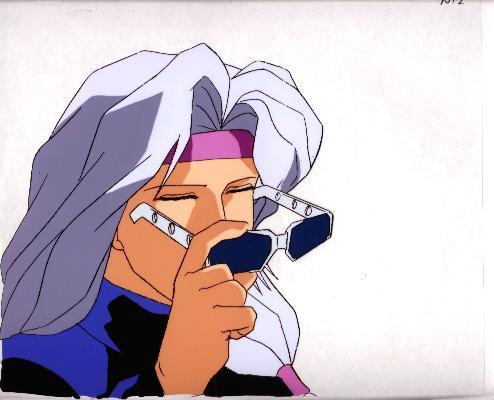 """Ashita e Free Kick """"Bishounen w/Sunglasses"""" Anime Cel (0201)"""