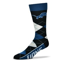 DETROIT LIONS ARGYLE DRESS/CASUAL SOCKS ONE SIZE FITS MOST FREE SHIPPING... - $11.02