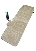 NEW Motor Massage Plush Mat w/ Heat Back Heat Vibration Bed Massager Hot... - $71.25