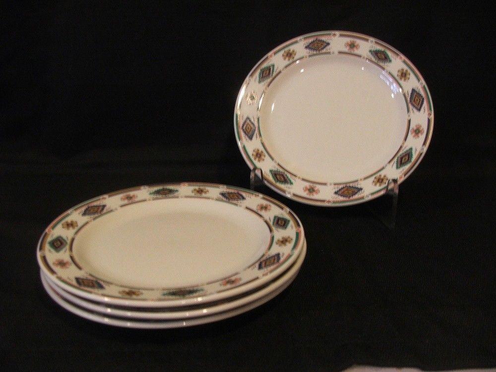 Farberware Scottsdale 8  Salad Plates Set of 4 Stoneware Southwest Very Nice! & Farberware Scottsdale 8