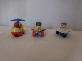 Little People Airplane Jet Plane Wheelies Metallic Fisher Price  HTF Rare - $15.86