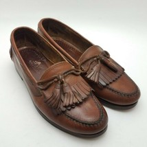 Cole Haan Mens Loafers Size 7.5 D Leather Tassel Kiltie Casual Brown Shoes - $28.87