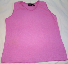 Womens Sonoma Pink Sleeveless Tank Top  Size 1X - $3.95