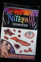 Realistic Bloody-TEMPORARY FAKE TATTOOS-Horror Zombie Costume Makeup-OPE... - $3.93