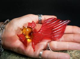 Golden Fish Queen Russian Grant Wishes Spirit Art Glass Izida Haunted No Djinn - $427.35