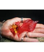 GOLDEN FISH QUEEN RUSSIAN GRANT WISHES SPIRIT Art Glass izida haunted no... - $427.35