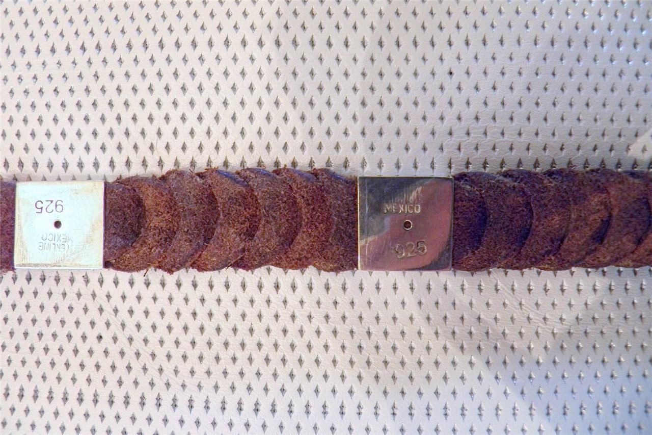 Vintage Slit Braided Kangaroo and Sterling Silver Bosal Hanger