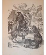 1899 Print of Eskimos & Dogs - $3.50