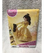 SEWING PATTERN Disney Princess Belle + Doll Costume Girls 3 to 8 Simplic... - $12.86