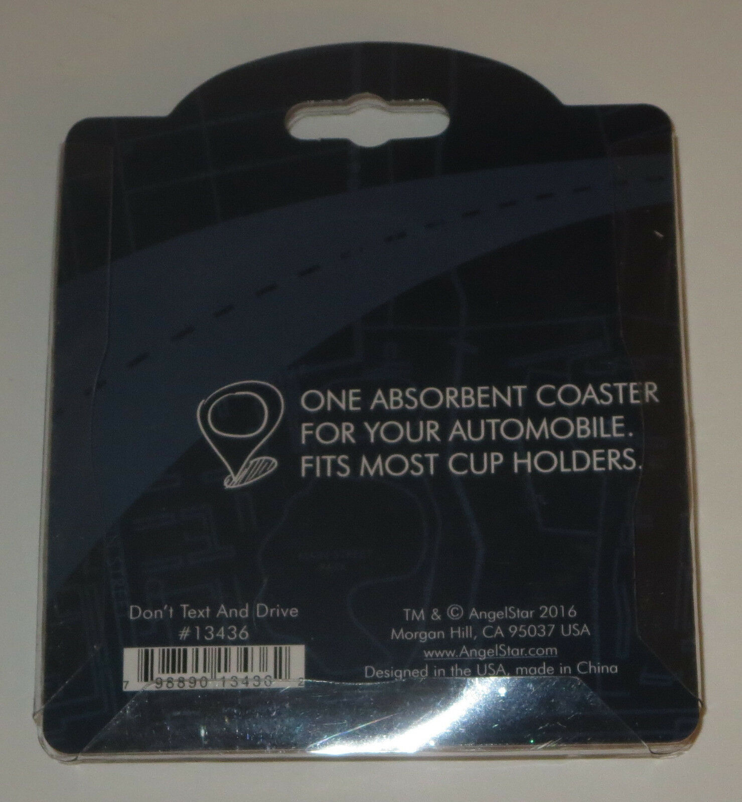 Don't Text And Drive Car Coaster Absorbent Keep Cup Holder Dry New