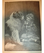 1899 Print of a Dog and a Child in Bondage  - $3.50