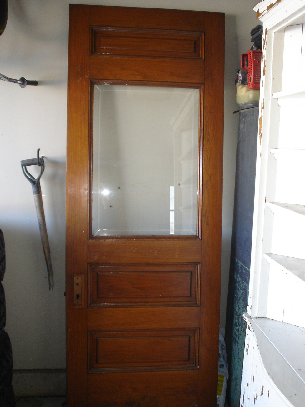 1880's Beveled Glass Oak Interior/Exterior Door