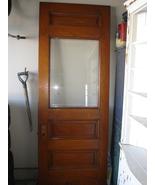 1880's Beveled Glass Oak Interior/Exterior Door  - $375.00