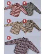 1/6 Scale 12in. PH JO Figure Clothes Male Female Plaid Shirt - £18.80 GBP