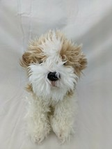 "Nat & Jules Tan White Shaggy Dog Plush 8"" 2013 Stuffed Animal Toy - $24.95"