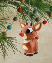 Hallmark Rudolph The Red-Nosed Reindeer Decoupage Christmas Ornament New w Tag image 3