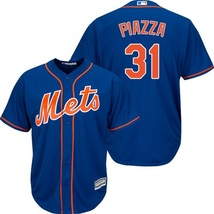 Men's #31 Mike Piazza New York Mets Jersey Blue Stitched Cool Base US Size - $36.80+