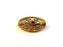 Victorian Gold Tone & Amythest Brooch - $36.99