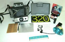 Vintage Polaroid Model 320 Automatic Instant Land Camera W/ Manuel Flash... - $32.38