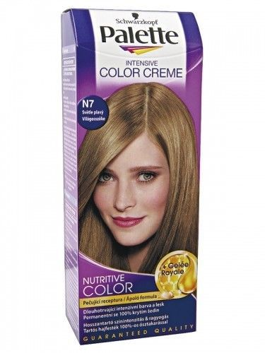 SCHWARZKOPF Palette Intensive Color Creme N7 Light Blonde Hair Color  Hair C