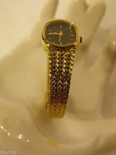 Waltham Quartz Battery Ladies Gold Tone Watch Recently Serviced Wristwatches