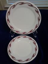 "Pyrex Tableware Corning,   Restaurant  milk glass (2) plates width 6.5"" ... - $14.99"