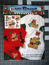 VTG Daisy Kingdom No Sew Applique Christmas Bears Under the Mistletoe NOS - $5.39