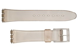 Swatch Replacement 17mm Plastic Watch Band Strap Clear Fits  - $9.95