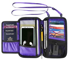 RFID Travel Wallet Passport Holder Neck Pouch for Men and Women - $18.49