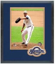 Kyle Lohse 2014 Milwaukee Brewers - 11 x 14 Team Logo Matted/Framed Photo - $43.95