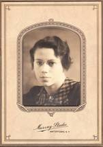 Photo young woman with glasses stand up paper frame thumb200