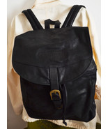 Large Leather Backpack Black Shoulder Bag Casper - $45.00