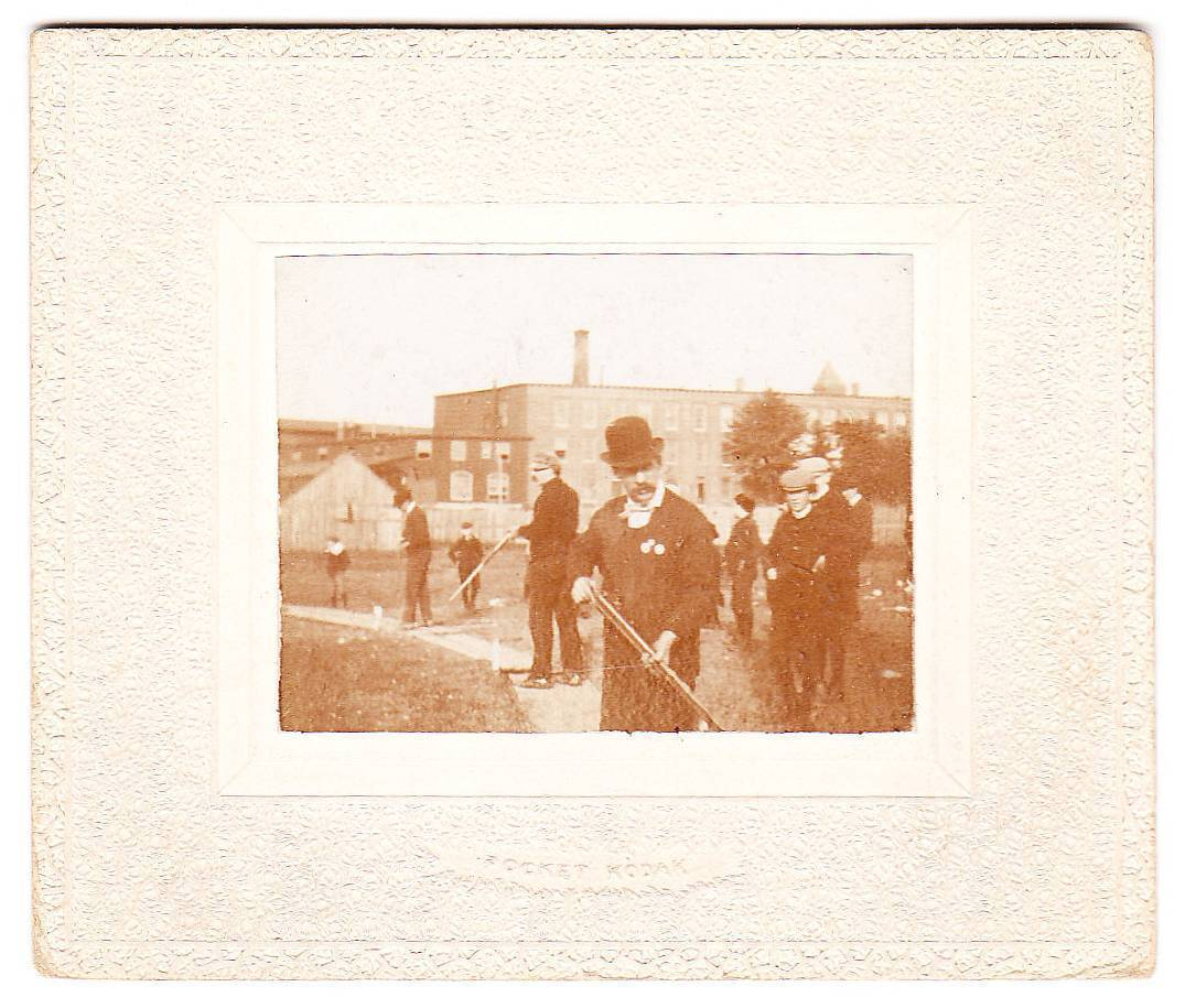 Small Vintage Photo Photograph Men with Rifles Guns