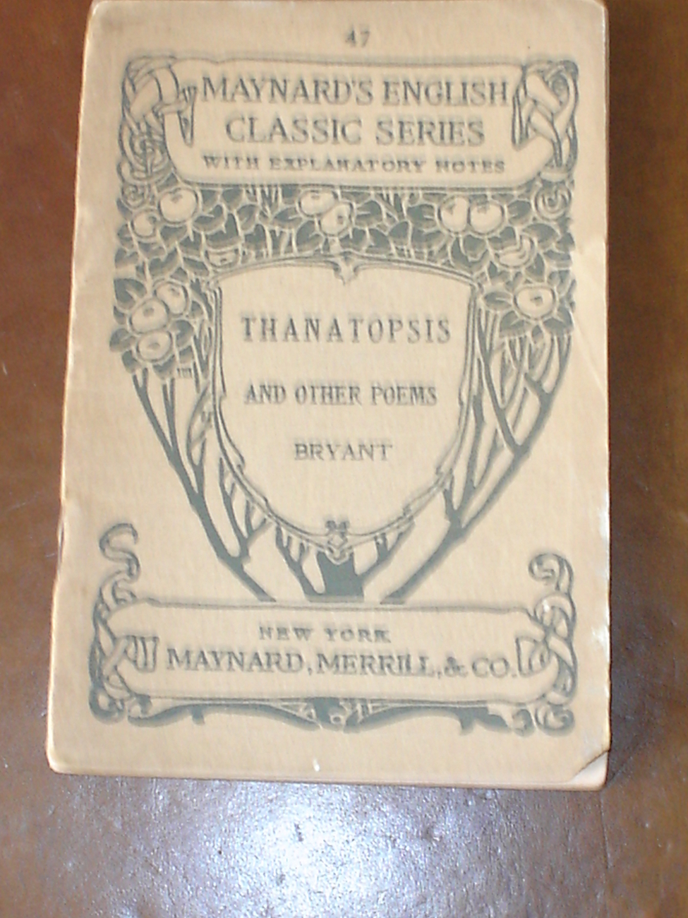 Antique Book: Maynard's English Classic Series 1884